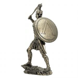 Figurine - Combattant de Sparte avec son bouclier rond et son glaive
