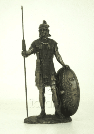 Figurine - Combattant romain avec sa lance et son bouclier