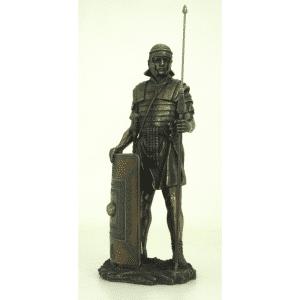 Figurine - Soldat de l'Empire romain avec son javelot et son bouclier