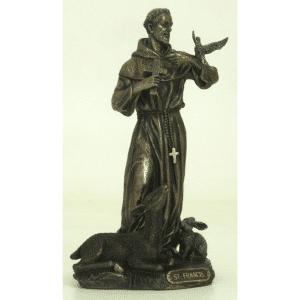 Figurine - Saint François d'Assise entouré d'animaux