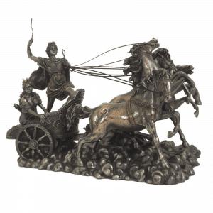 Sculpture miniature de l'oeuvre du Quadriga d'Apollon du théâtre du Bolchoï
