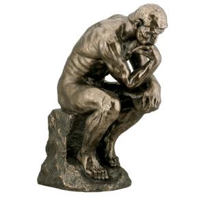 Sculpture miniature - Le Penseur par l'artiste Rodin (grande taille)