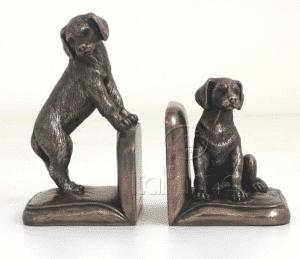 Figurine - Serre-livres décorés de petits chiens