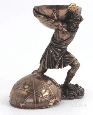Figurine - Atlas portant le monde