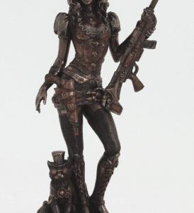 Figurine - Femme steampunk armé d'un fusil