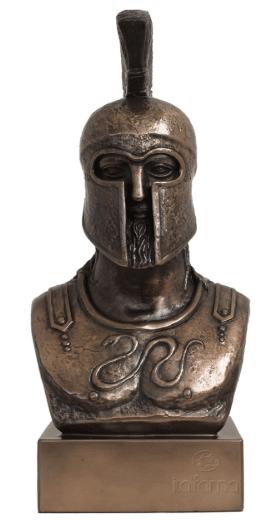 Figurine - Buste d'un soldat spartiate