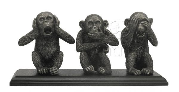 """Figurines - Les trois singes qui """"ne voient pas"""