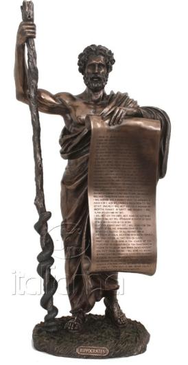 Figurine - Hyppocrate père de la médecine
