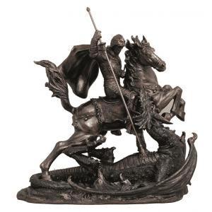 Figurine - Saint-Georges et le dragon légendaire