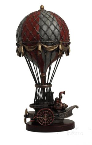 Figurine - Steampunk d'une montgolfière du XVIII ème siècle