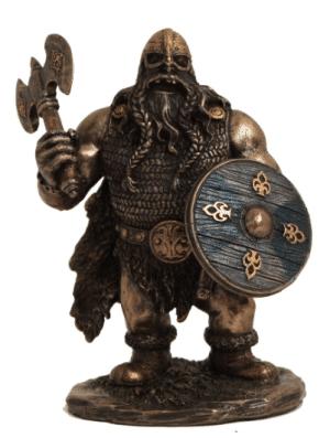 Figurine - Viking avec bouclier et hache