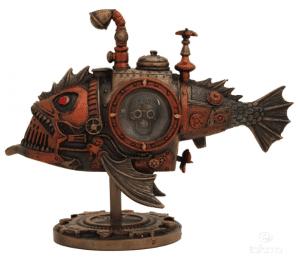 Figurine - Poisson des abysses au style Steampunk