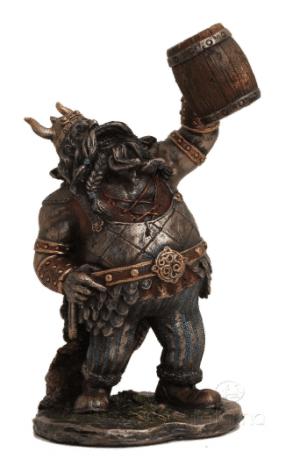 Figurine - Viking avec son fût en bois