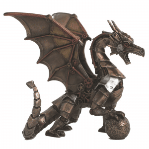 Figurine - Le dragon avec le style Steampunk