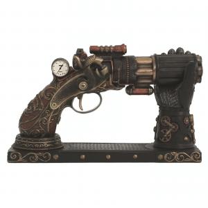 Figurine - Revolver façon Steampunk et son râtelier