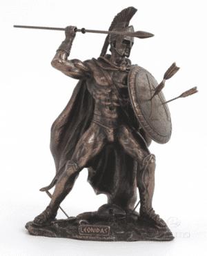 Figurine - Léonidas assailli par des flèches