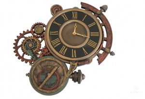 Horloge Steampunk Astrolab à accrocher au mur