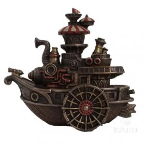 Figurine - Navire à vapeur façon Steampunk