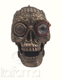 Figurine - Crâne de Steampunk avec bouche mobile