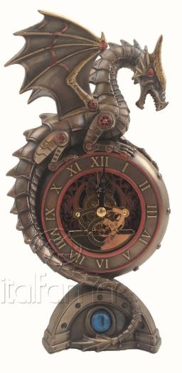 Horloge de dragon au style Steampunk