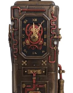 Horloge et son distributeur de carburant au style Steampunk