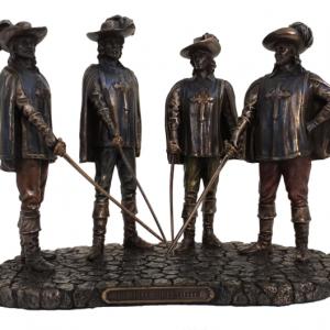 Figurine - D'Artagnan et les 3 mousquetaires selon Alexandre Dumas