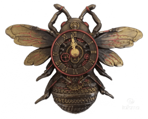 Plaque à accrocher au mur d'une abeille de style Steampunk