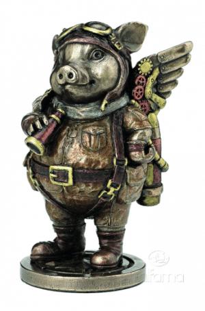 Figurine - Pilote d'avion Steampunk