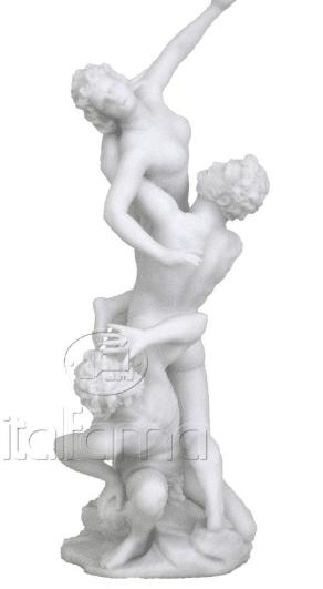 Sculpture miniature - L'enlèvement des Sabines par Giambologna (version blanche)