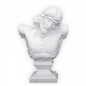 Figurine - Le buste de Jesus Christ sur sa croix