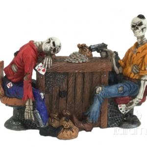 Figurine - Squelettes jouant au poker