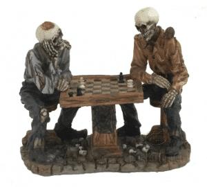 Figurine - Squelettes jouant aux échecs