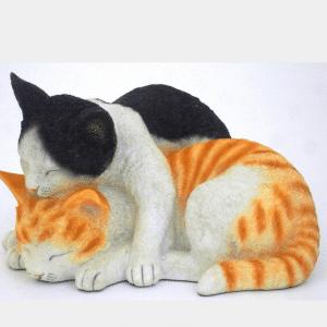 Figurine - Couple de chats